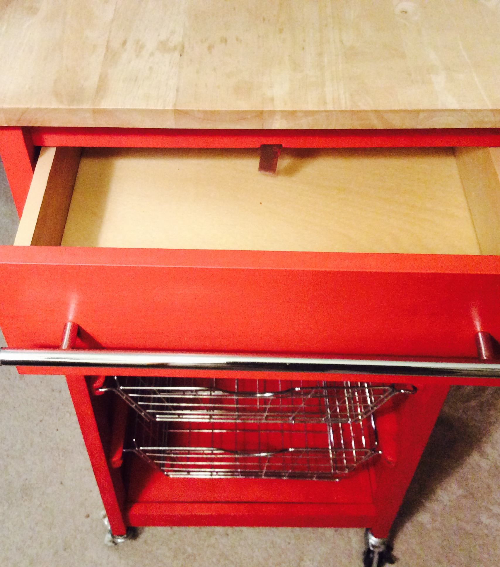 Upcycled Kitchen Cart